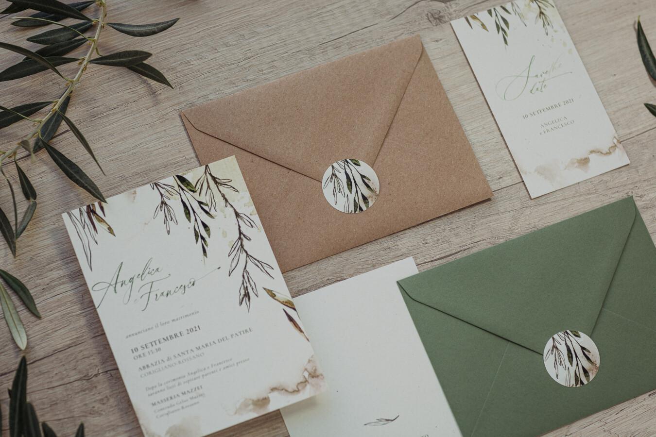 Partecipazioni nozze Ulivo - Wedsign