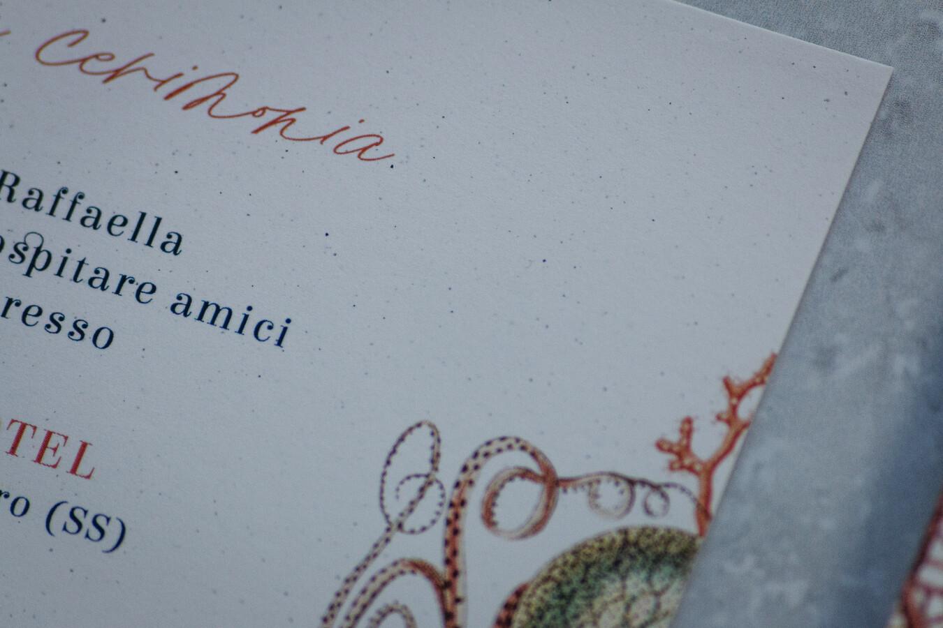 Partecipazioni nozze Corallo - Wedsign