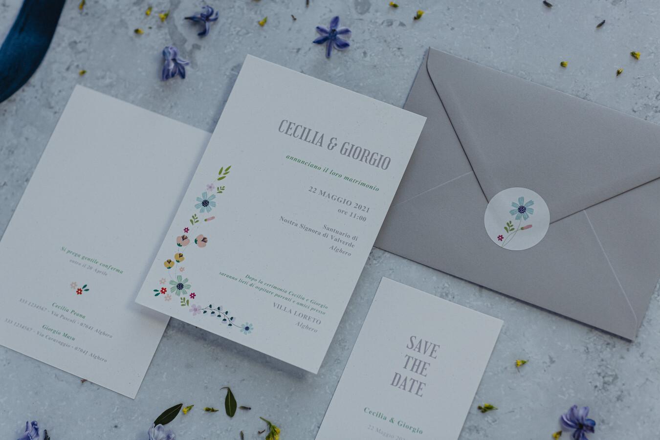 Partecipazioni nozze PASTELLO - Wedsign
