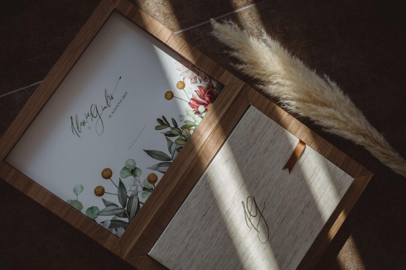 album nozze lino e legno