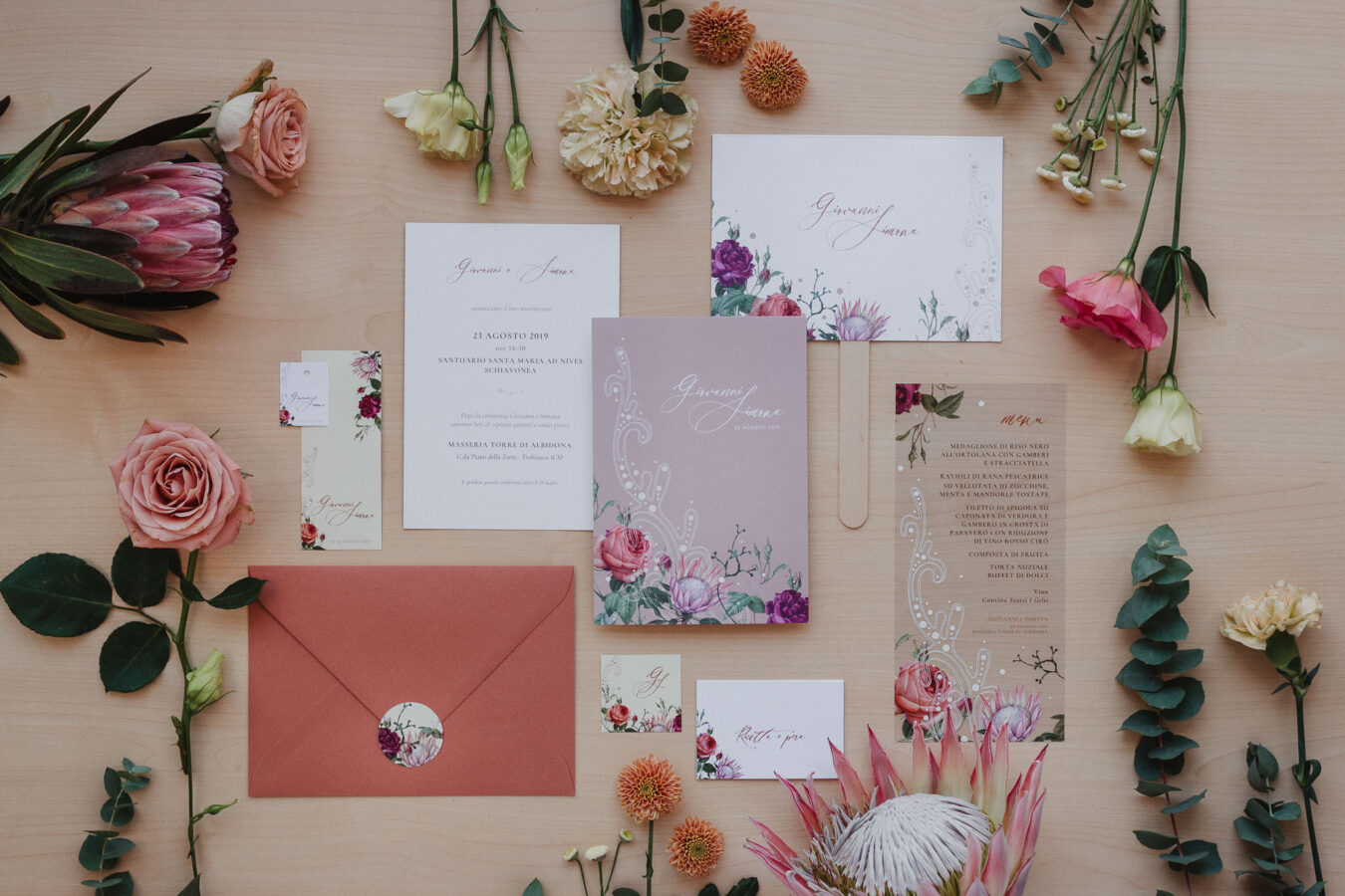 wedding stationery protea