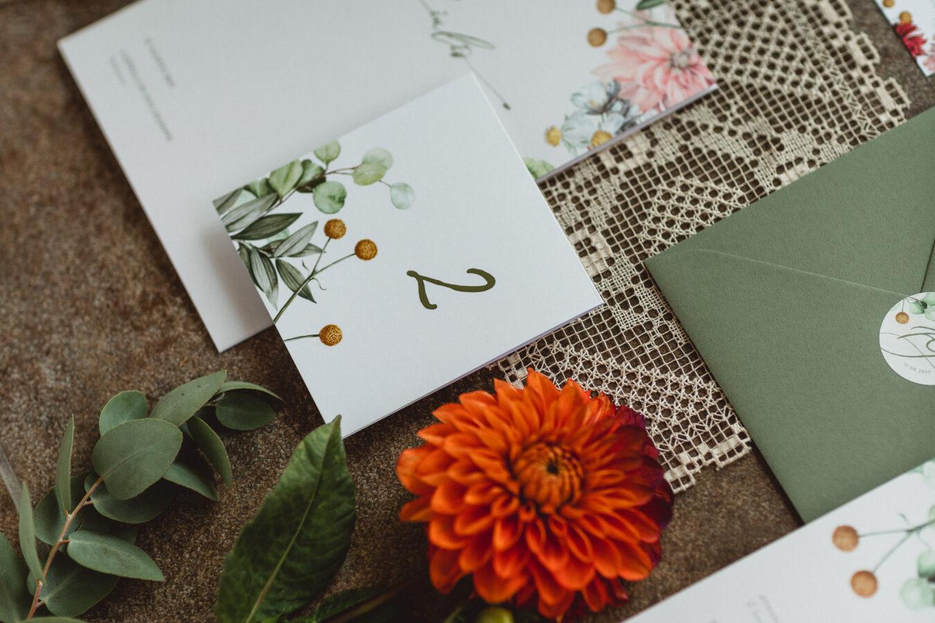 Inviti vintage botanico